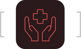 hands with cross icon